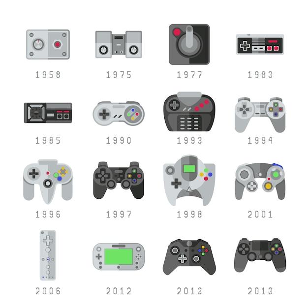 Commandes de jeu vidéo Vecteur Premium