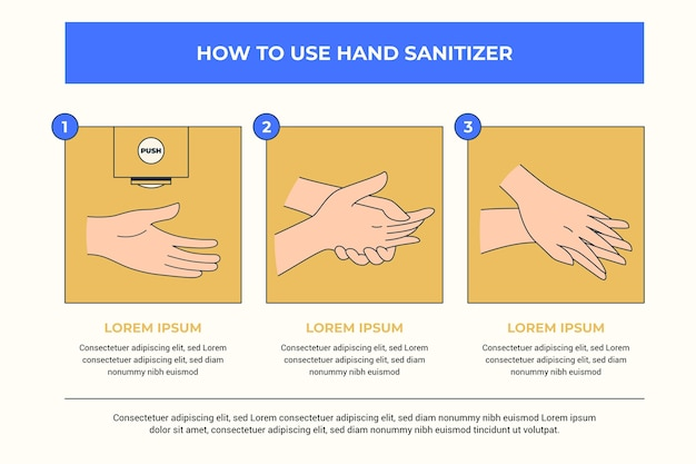 Comment Utiliser Les Infographies Des Désinfectants Pour Les Mains Vecteur gratuit