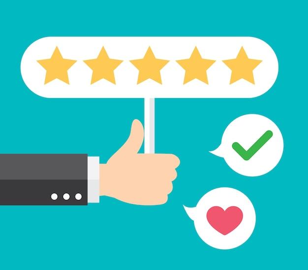 Commentaire positif Vecteur Premium