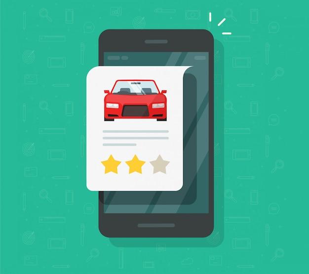 Commentaires De Témoignages Automobiles Sur L'icône De Smartphone Vecteur Premium