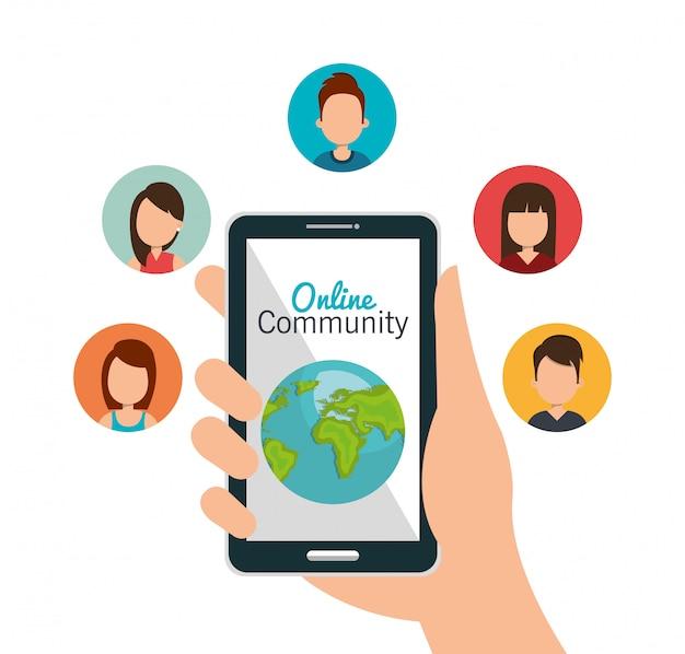 Communauté en ligne Vecteur gratuit