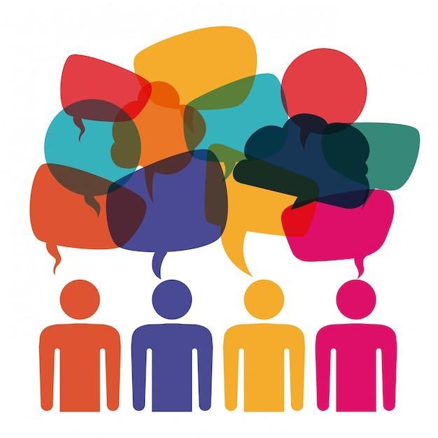 Communication De Bulles Vecteur Premium
