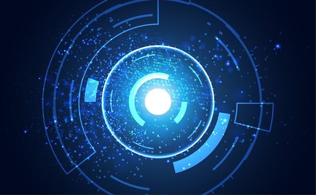 Communication de concept de technologie abstraite moderne Vecteur Premium