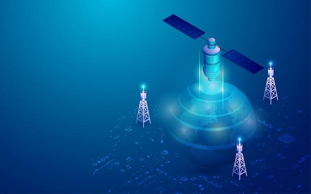 Communication Globale Vecteur Premium
