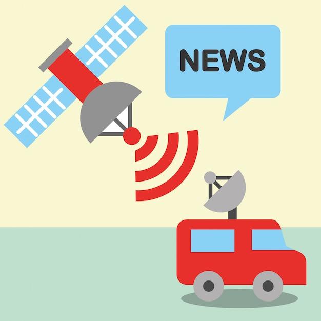 Communication de nouvelles se rapportent Vecteur Premium