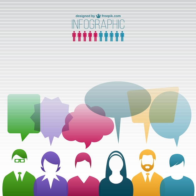 Communication Des Personnes Infographie Vecteur gratuit