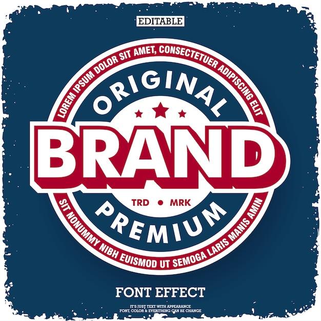 Compagnie de marque originale de qualité supérieure Vecteur Premium