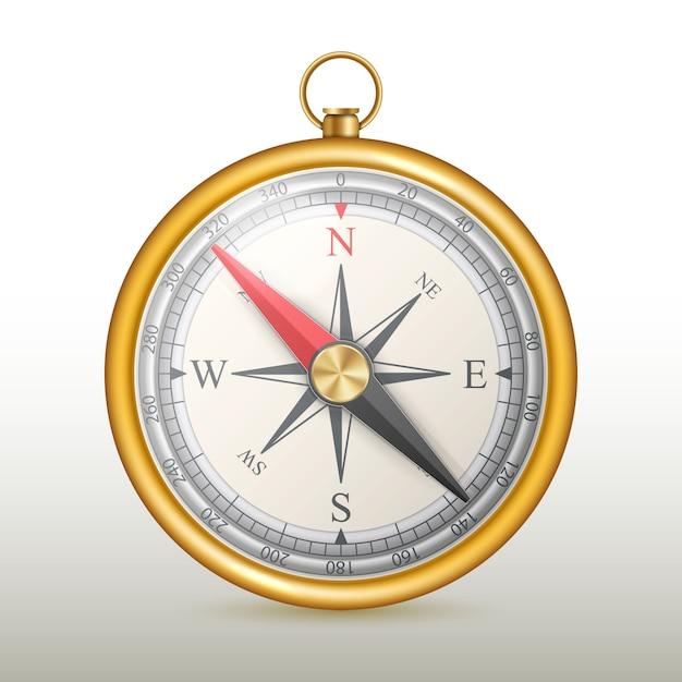 Compas magnétique rose des vents. Vecteur Premium