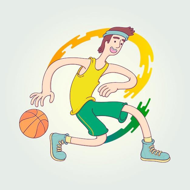 La compétition de l'athlète. Vecteur Premium
