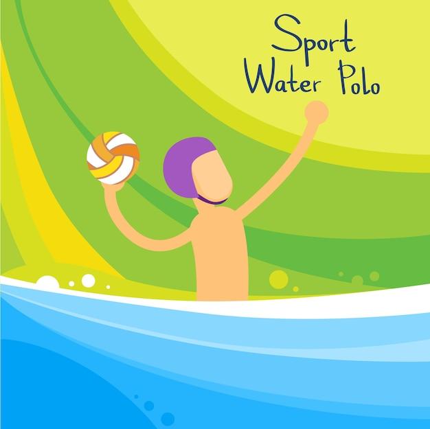 Compétition sportive de water-polo Vecteur Premium