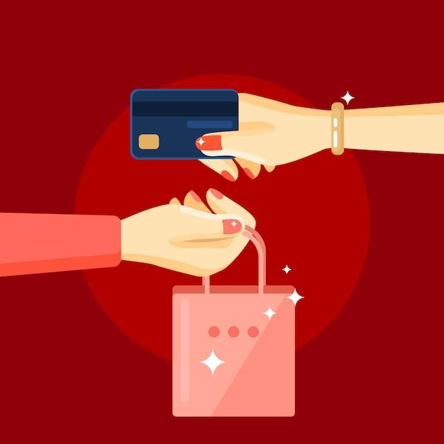 Composition d'achat de cosmétiques Vecteur gratuit
