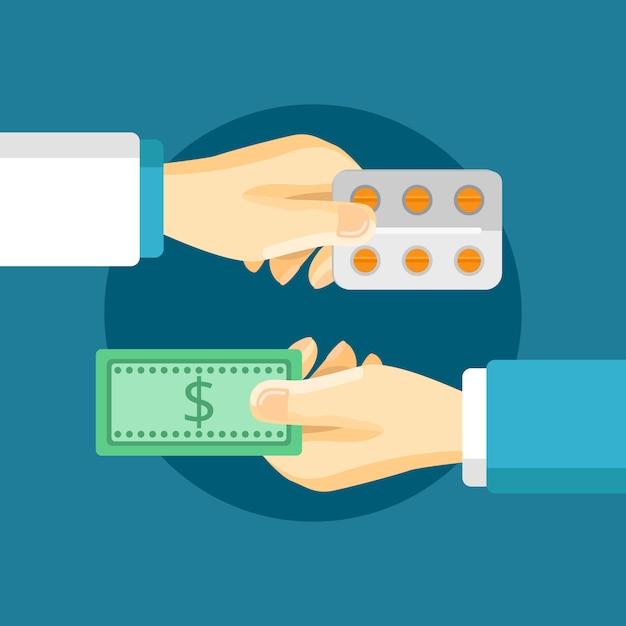 Composition d'achat de médicaments Vecteur gratuit
