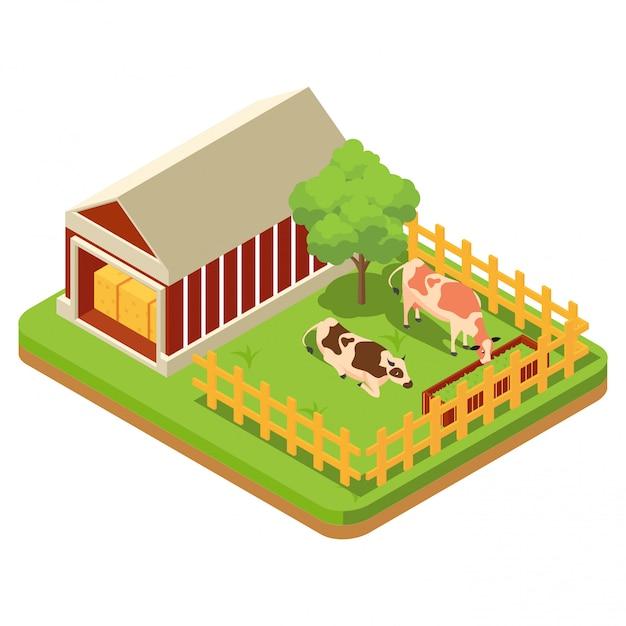 La composition de l'agriculture Vecteur Premium
