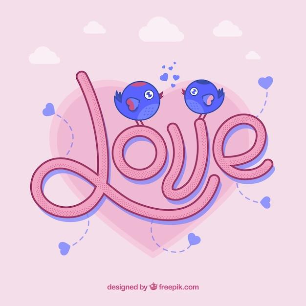 Composition d'amour originale avec un style moderne Vecteur gratuit