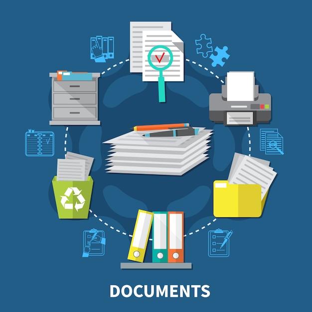 Composition Des Articles Commerciaux Vecteur gratuit