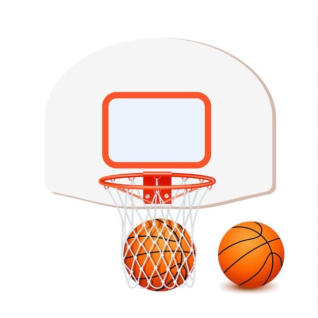 Composition De Basket Colorée Vecteur gratuit