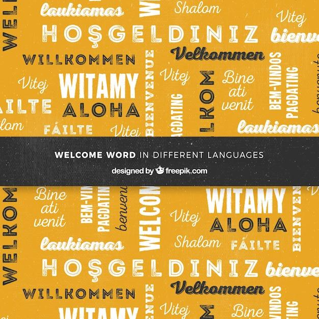 Composition De Bienvenue Dans Différentes Langues Vecteur gratuit