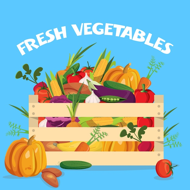 Composition Colorée De Légumes Vecteur gratuit