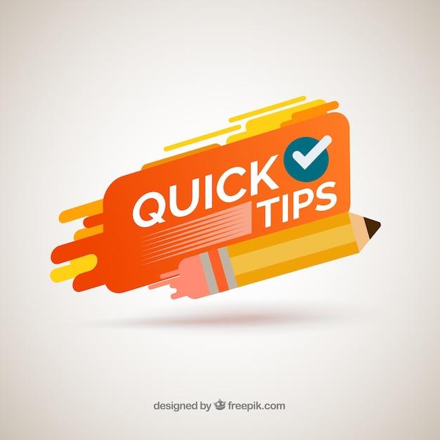 Composition de conseils rapides modernes avec un design plat Vecteur gratuit