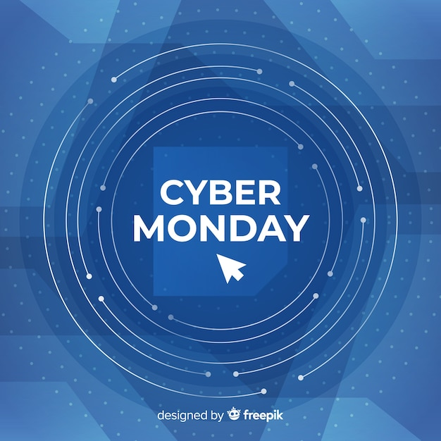 Composition cyber lundi avec un design plat Vecteur gratuit
