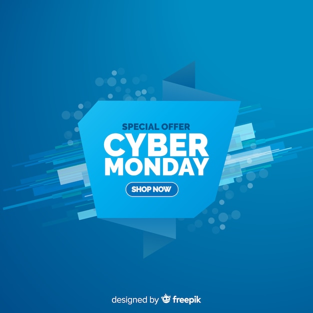 Composition de cyber lundi moderne avec un design plat Vecteur gratuit