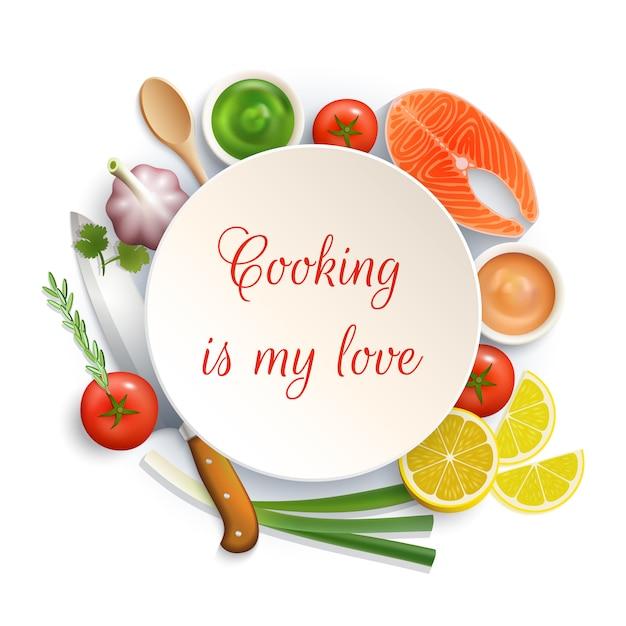 Composition du cercle de cuisson à plat Vecteur gratuit