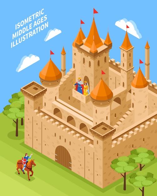 Composition du château royal Vecteur gratuit