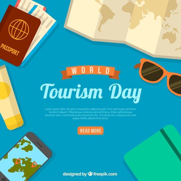 Composition Du Jour Du Tourisme Mondial Moderne Vecteur gratuit