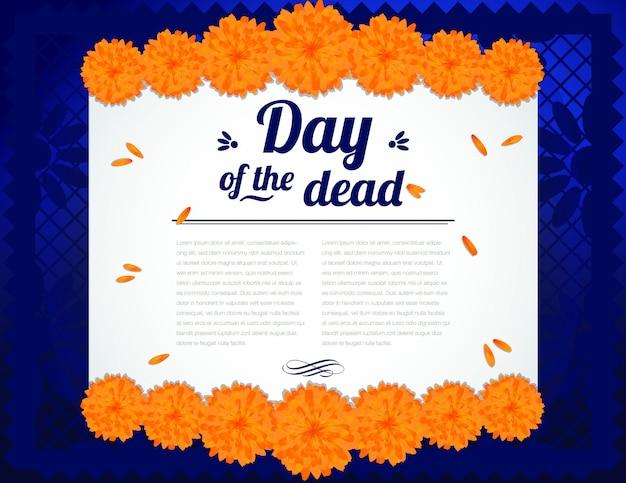 Composition Du Jour De La Mort - Espace Copie Vecteur Premium
