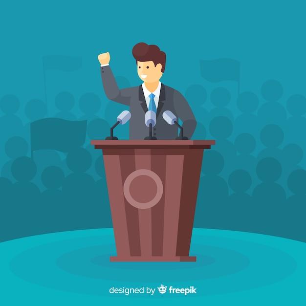 Composition de l'élection présidentielle avec design plat Vecteur gratuit