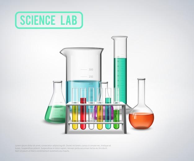 Composition d'équipement de laboratoire scientifique Vecteur gratuit