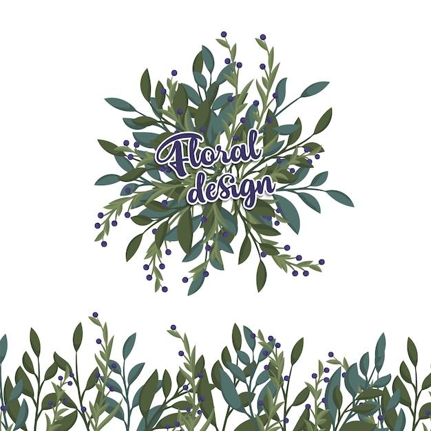 Composition florale avec des fleurs colorées Vecteur gratuit
