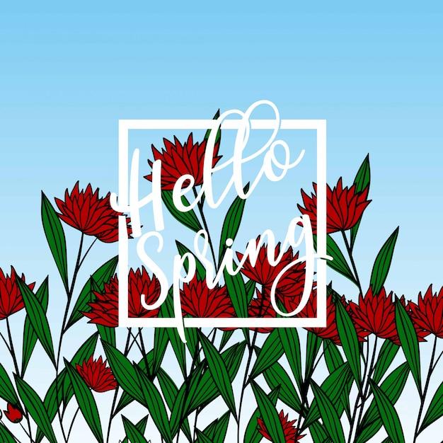 Composition florale Vecteur Premium
