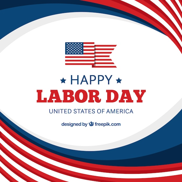 Composition De La Journée De Travail Usa Avec Un Design Plat Vecteur gratuit