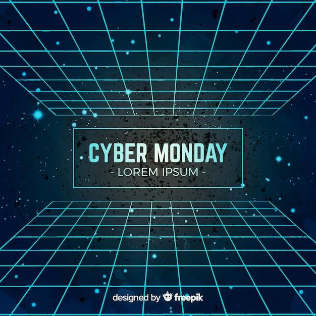 Composition moderne de l'aquarelle cyber lundi Vecteur gratuit