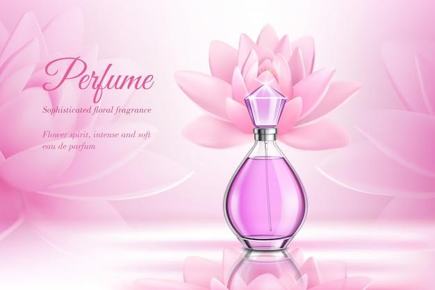 Composition De Parfum De Rose Vecteur gratuit