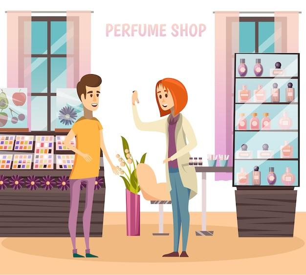Composition de parfumerie Vecteur gratuit