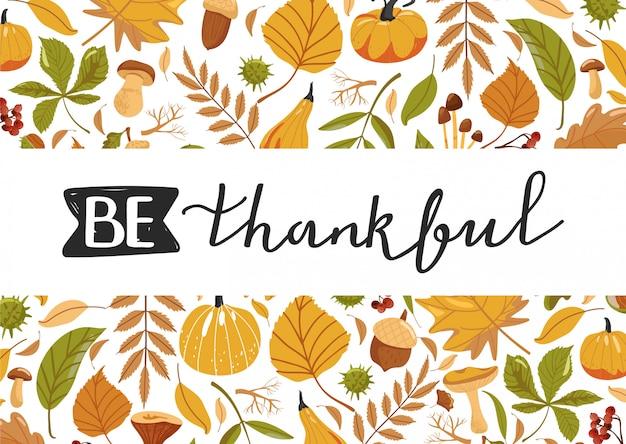 Composition Pour Le Jour De Thanksgiving. Vecteur Premium