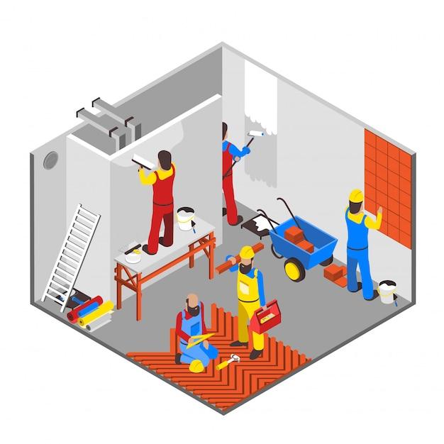 Composition de redécoration intérieure Vecteur gratuit