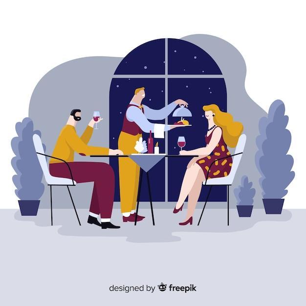 Composition de restaurant élégant Vecteur gratuit