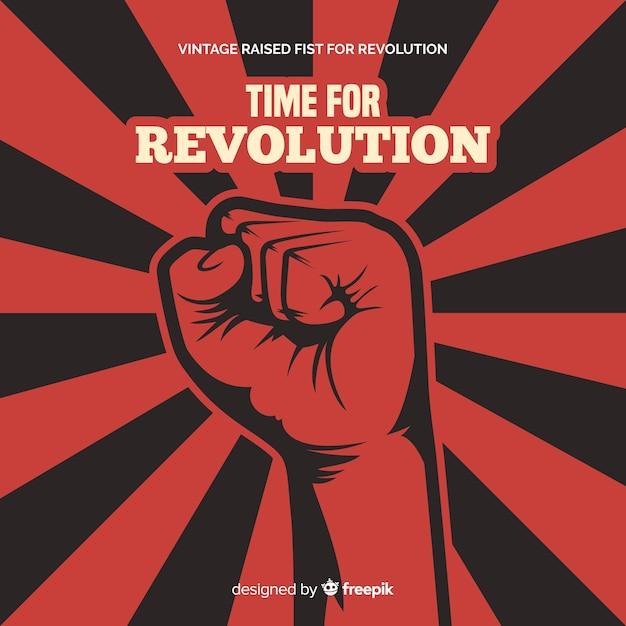 Composition De Révolution Classique Avec Style Vintage Vecteur gratuit
