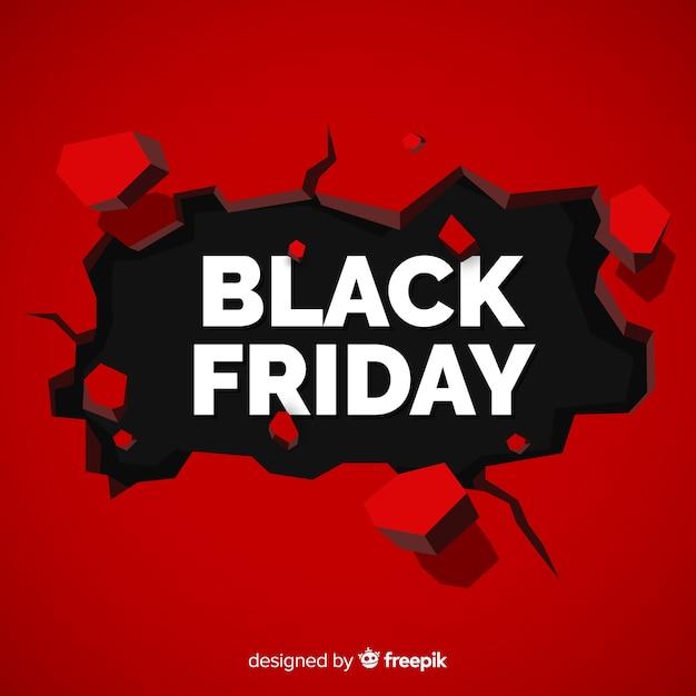 Composition de vendredi noir moderne avec un design plat Vecteur gratuit
