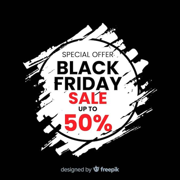 Composition de vente vendredi noir avec fond de tache Vecteur gratuit