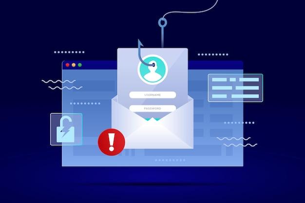 Compte De Phishing Vecteur gratuit