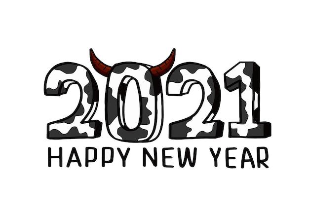 Compte à Rebours Pour Le Nouvel An 2021, Année Du Buffle 2021 Vecteur gratuit