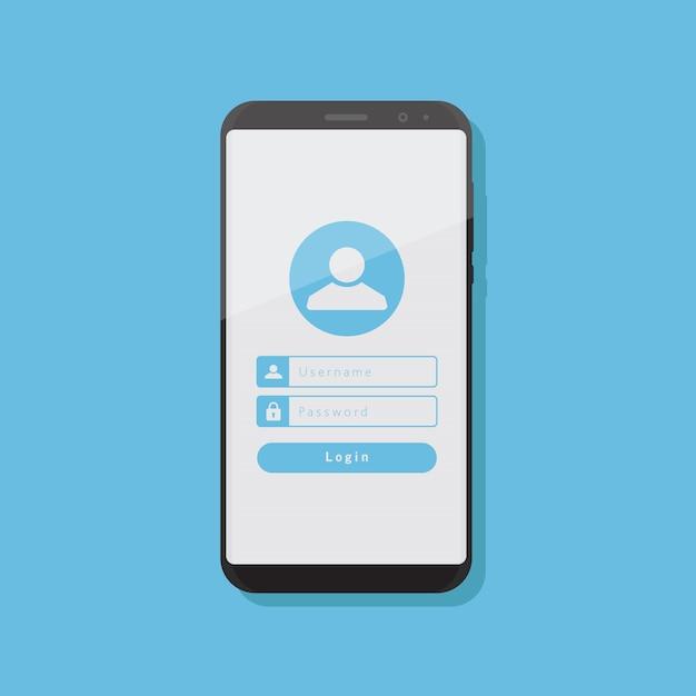 Compte Sur Smartphone Vecteur Premium