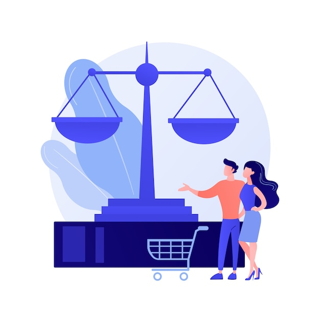 Concept Abstrait Du Droit De La Consommation Vecteur gratuit