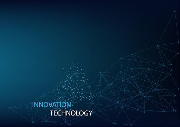 Concept abstrait d'innovation et de technologie avec concept géométrique Vecteur Premium
