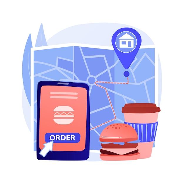 Concept Abstrait De Livraison De Nourriture Vecteur gratuit