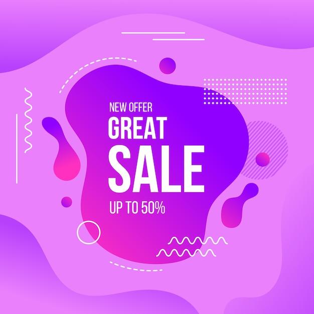 Concept abstrait de promotion des ventes Vecteur gratuit